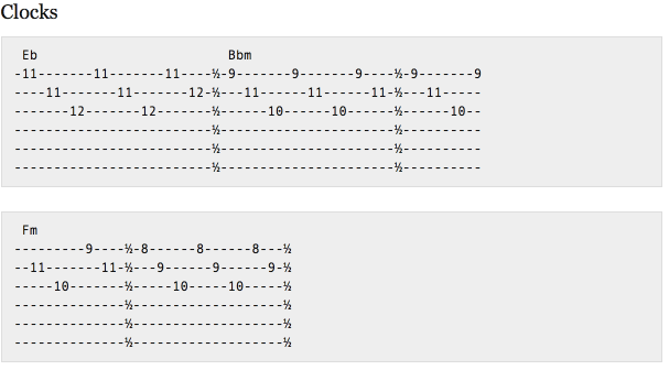 This version sounds closer to the piano. I used my knowledge of guitar chords and intervals to make this one.